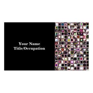 Los tonos apenados de la joya texturizaron el tarjetas de visita