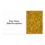 Los tonos de oro de la tierra texturizaron el mode plantilla de tarjeta de visita