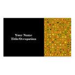 Los tonos de oro de la tierra texturizaron el plantilla de tarjeta de visita