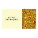 Los tonos de oro de la tierra texturizaron el tarjeta de visita