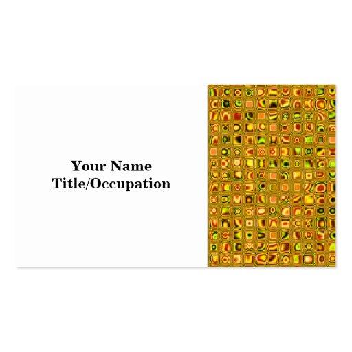 Los tonos de oro de la tierra texturizaron el tarjetas de visita