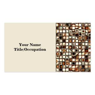 Los tonos ricos de la sepia texturizaron el modelo tarjetas de visita