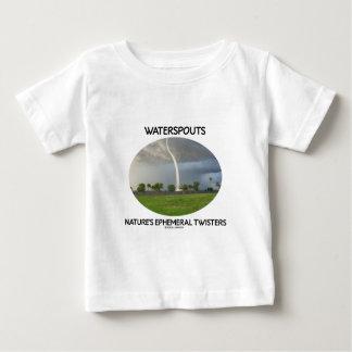 Los tornados efímeros de la naturaleza de las playera de bebé