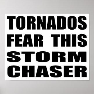 Los tornados temen este cazador de la tormenta póster
