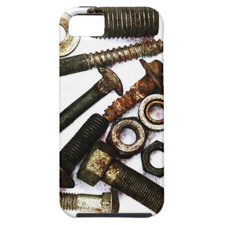 los tornillos, nueces - y - los pernos llaman por iPhone 5 fundas