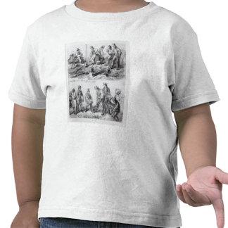 Los trabajadores acercan a la nueva oficina de cor camisetas