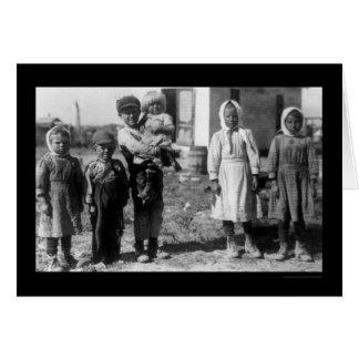 Los trabajadores de granja de la remolacha del niñ felicitaciones