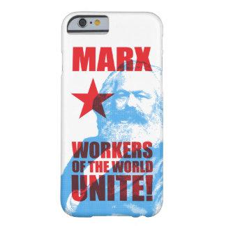 ¡Los trabajadores de Karl Marx del mundo unen! Funda Para iPhone 6 Barely There