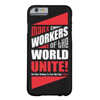 Los trabajadores de Karl Marx del mundo unen Funda Para iPhone 6 Barely There