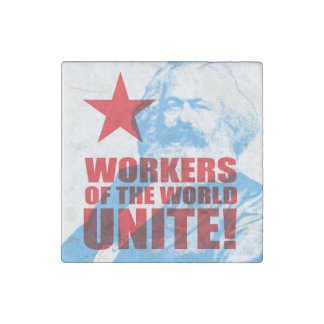 ¡Los trabajadores de Karl Marx del mundo unen! Imán De Piedra