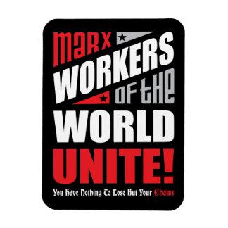 Los trabajadores de Karl Marx del mundo unen Imanes Rectangulares