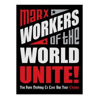 Los trabajadores de Karl Marx del mundo unen Póster