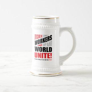 Los trabajadores de Karl Marx del mundo unen Jarra De Cerveza