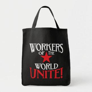 ¡Los trabajadores del mundo unen! Comunista Bolsa Tela Para La Compra