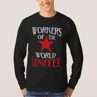 Los trabajadores del mundo unen la estrella roja playeras