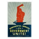 Los trabajadores no esenciales del gobierno unen impresiones