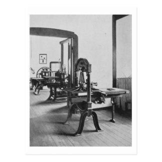 Los trabajos de impresión de los talleres del Bau Postales