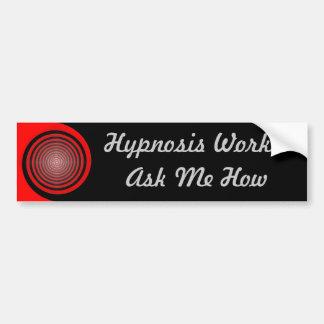 Los trabajos de la hipnosis - pregúnteme cómo, peg pegatina de parachoque