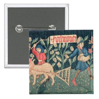 Los trabajos de los meses, Alsacia (tapicería)Vi Pin Cuadrado