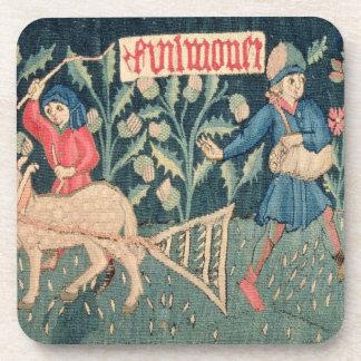 Los trabajos de los meses, Alsacia (tapicería)Vi Posavasos
