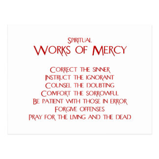 Los trabajos espirituales de la misericordia postal