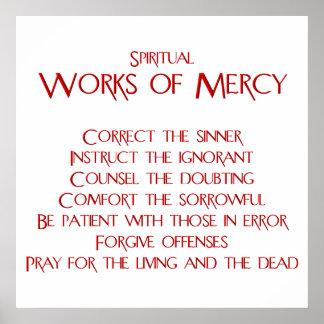 Los trabajos espirituales del poster de la miseric