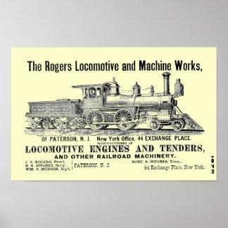 Los trabajos locomotores de Rogers, Paterson, Poster