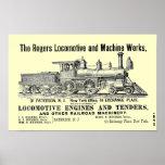 Los trabajos locomotores de Rogers, Paterson, Póster