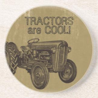 Los tractores son práctico de costa fresco posavasos para bebidas