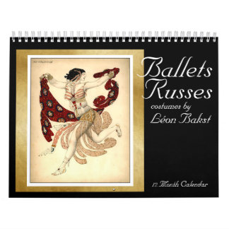 Los trajes de Russes de los ballets por Bakst - Calendario