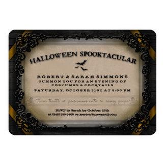 """Los trajes y los cócteles Halloween Spooktacular Invitación 5"""" X 7"""""""