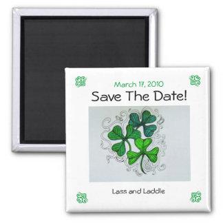 ¡Los tréboles ahorran la fecha! 17 de marzo de 201 Imanes