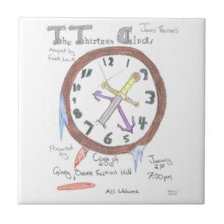 Los trece relojes - teja