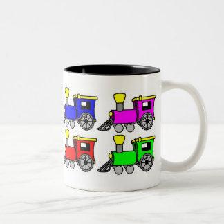 ¡los trenes, AMO LOS TRENES! Tazas De Café