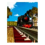 Los trenes del vintage ilustraron series tarjetas postales
