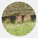 los tres amigos etiquetas redondas