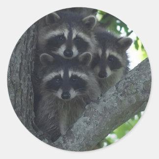 Los tres amigos pegatina redonda