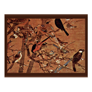 Los tres amigos y cientos pájaros por Pien Postales