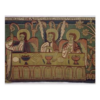Los tres ángeles, de la historia de Abraham Tarjeta Postal