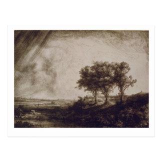 Los tres árboles postal