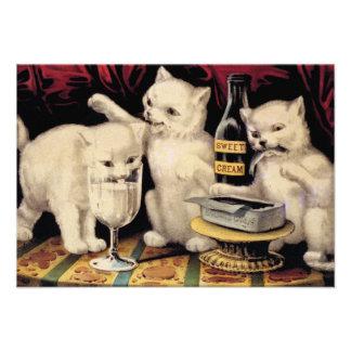 Los tres gatitos codiciosos en el curtidor Ives de Comunicado Personalizado