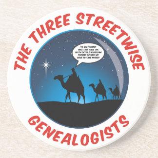 Los tres Genealogists pícaros Posavasos Cerveza