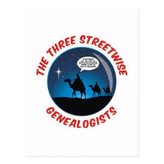 Los tres Genealogists pícaros Postales