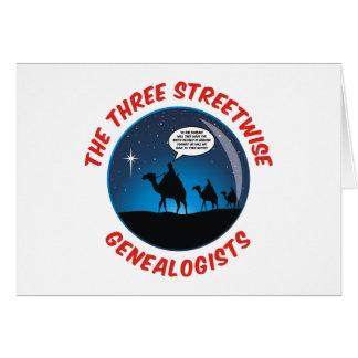 Los tres Genealogists pícaros Tarjeta De Felicitación