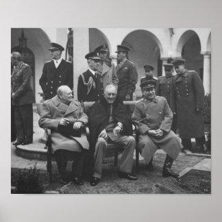 Los tres grandes durante la conferencia de Yalta - Impresiones