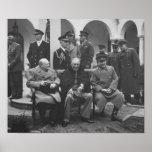 Los tres grandes durante la conferencia de Yalta - Póster