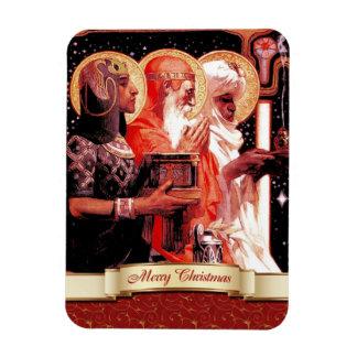 Los tres hombres sabios. Imán del regalo del navid