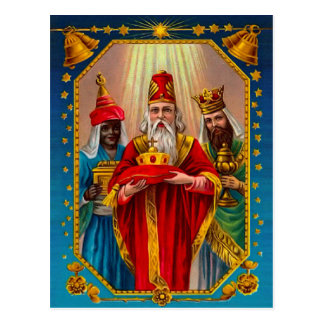 Los tres hombres sabios tarjeta postal