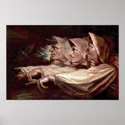 Los tres ingleses de las brujas - las hermanas o e póster