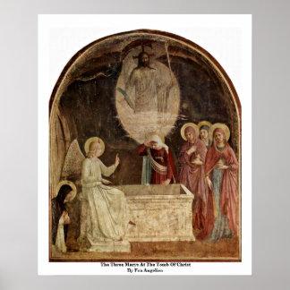 Los tres Marys en la tumba de Cristo Poster